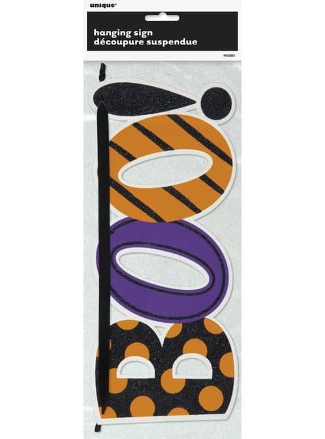 Cartaz decorativo brilhante Boo - Basic Halloween