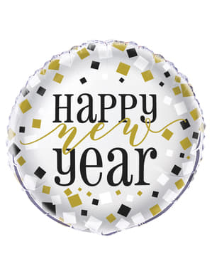 Ballon en alu Nouvel An - Happy New Year