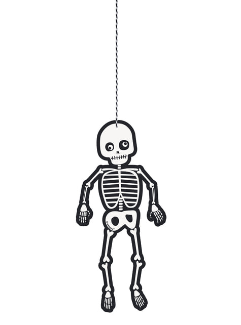 3 hanging skeletons - Skeleton Trick or Treat