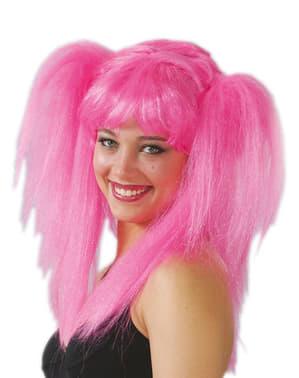 Parrucca con treccine rosa