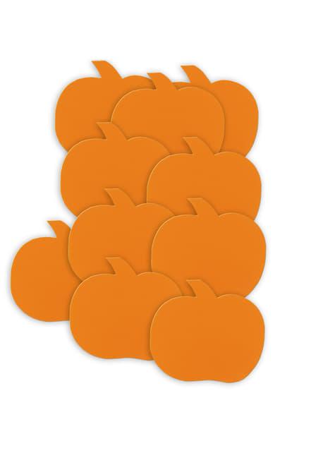 10 kpl paperisia kurpitsoja - Basic Halloween