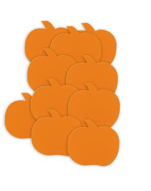 Kürbis Papierfiguren Set 10-teilig - Basic Halloween