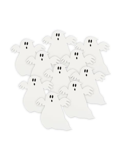 10 kpl paperisia kummituksia - Basic Halloween