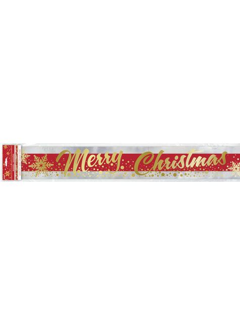 Cartel rectangular Merry Christmas - Gold Sparkle Christmas