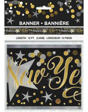 Dekorativt nytårs banner - Glittering New Year