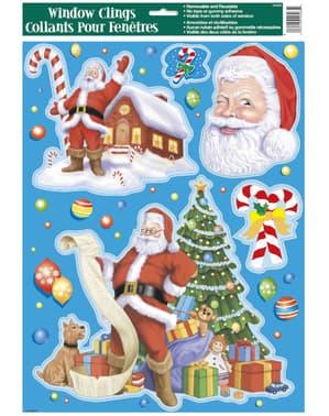Rozmanité vianočné nálepky na okná - Basic Christmas