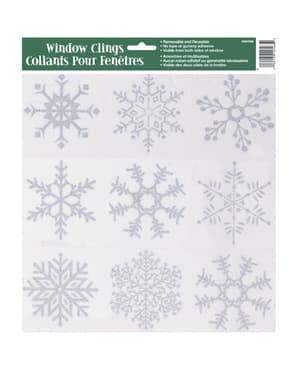 Snježna pahuljica prozorska naljepnica - Srebrna Pahulja Božić