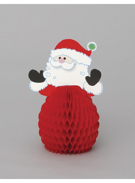 4 mini adornos de favo de mel Pai Natal - Basic Christmas