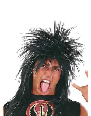 Parrucca da punk nera