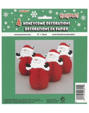 Weihnachtsmann Mini Deko Set 4-teilig - Basic Christmas