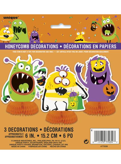 3 decoraciones de mesa de monstruos infantiles - Silly Halloween Monsters - comprar