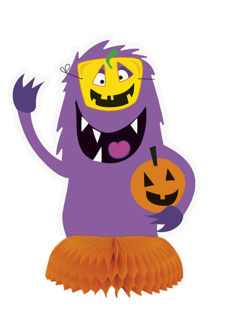 3 decoraciones de mesa de monstruos infantiles - Silly Halloween Monsters