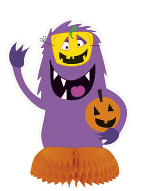 3 bordsdekorationer med monster för barn - Silly Halloween Monsters