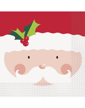 16 șervețele Moș Crăciun (33x33 cm) - Holly Santa