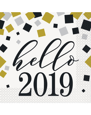 16 serviettes Nouvel An - Happy New Year