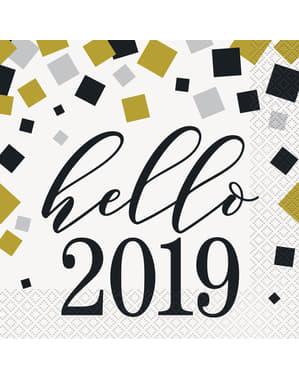 Silvester Servietten Set 16-teilig - Happy New Year
