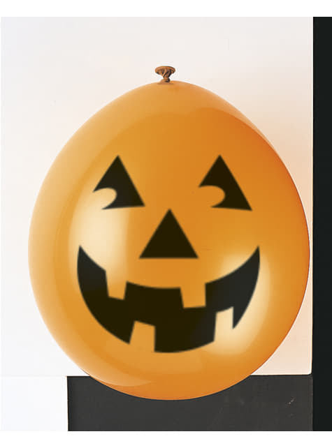 10 latex balloons with pumpkin (22,86 cm) - Basic Halloween