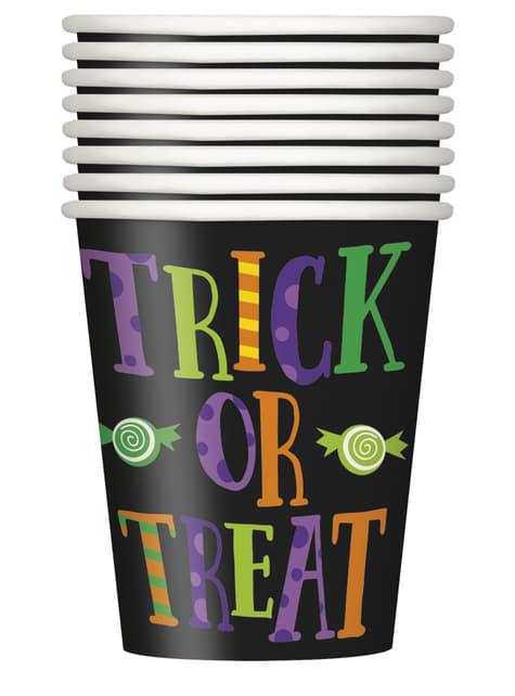 Zestaw 8 kubków z dziecinnymi potworami - Silly Halloween Monsters