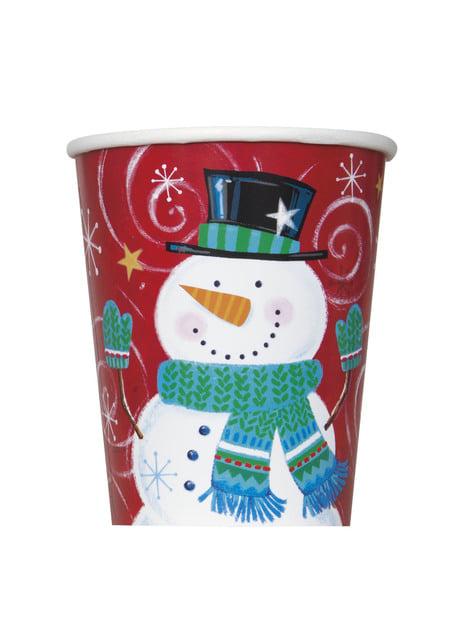 8 cups with snowman - Snowman Swirl