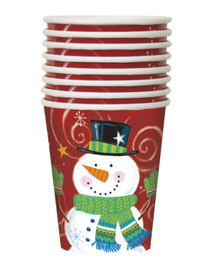 8 cups with snowman - Snowman Swirl