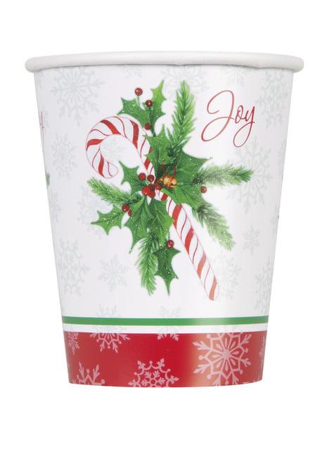 8 vasos de caramelo navideño - Candy Cane Christmas