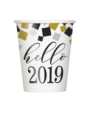 8 New Year's cups - Happy New Year