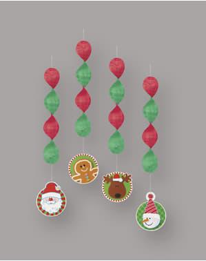 Hangende kerst decoratie set - Basic Christmas