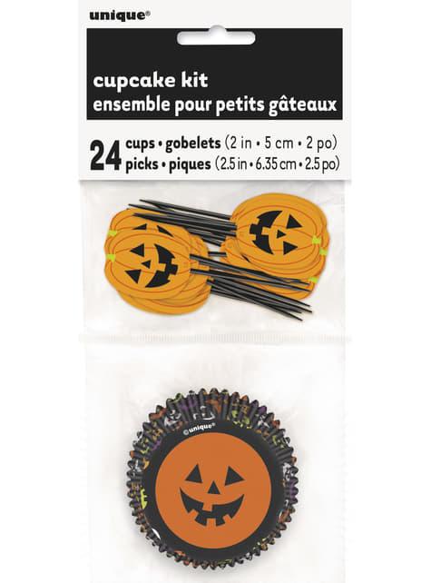 Set of 24 Halloween print cupcake cases - Basic Halloween
