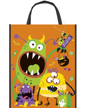 Tote bag with kiddy monsters - Silly Halloween Monsters