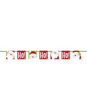 Świąteczny banner ze świętym Mikołajem - Ho Ho Ho Christmas