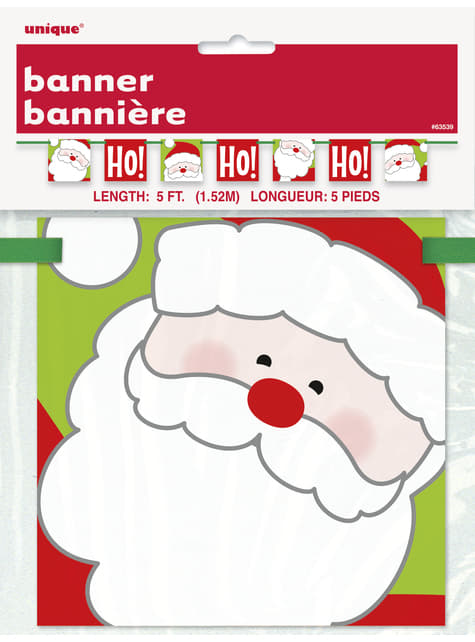 Guirnalda de Papá Noel - Ho Ho Ho Christmas - para tus fiestas