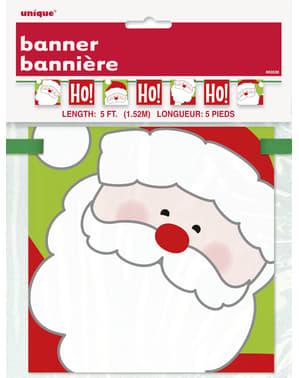 Santa Claus banner - Ho Ho Ho Christmas