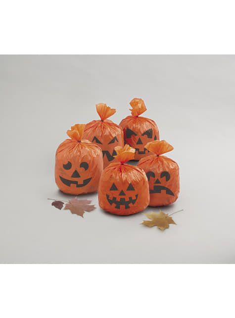 20 bolsas de calabaza para decorar - Basic Halloween - para tus fiestas