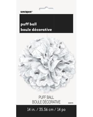 Декоративні білий puff м'яч з павуків - основні Хеллоуїн