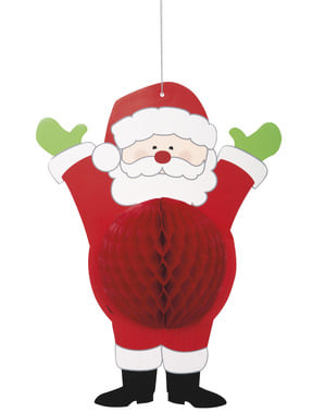 Santa Claus honeycomb decoration - Ho Ho Ho Christmas