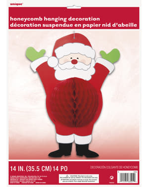 Kerstman honingraat decoratie - Ho Ho Ho Christmas
