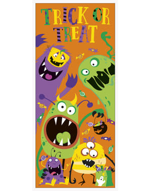 Poster para porta de monstros infantis - Silly Halloween Monsters