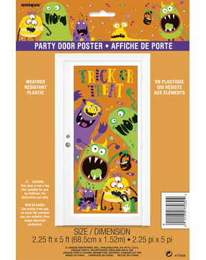 Poster para puerta de monstruos infantiles - Silly Halloween Monsters