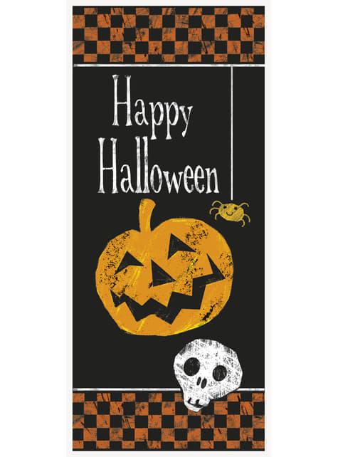 Decoración para puerta con calabaza y calavera Happy Halloween - Basic Halloween