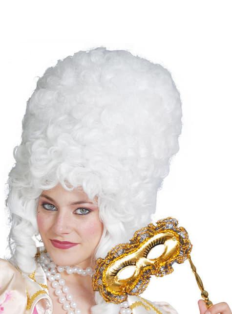 Perruque d'époque grande blanche