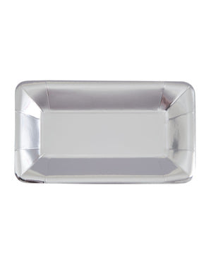 8 rectangular silver trays - Solid Colour Tableware