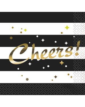 16 șervețele pentru Revelion (13x13 cm) - Glittering New Year Chic Party