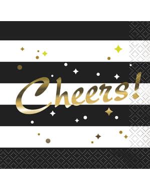 Sæt af 16 nytårs servietter - Glittering New Year Chic Party