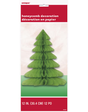 קישוט עץ ירוק למרכז שולחן חג המולד - Basic Christmas