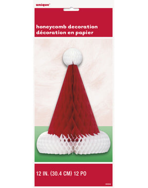 Santa Claus hat honeycomb centerpiece - Basic Christmas