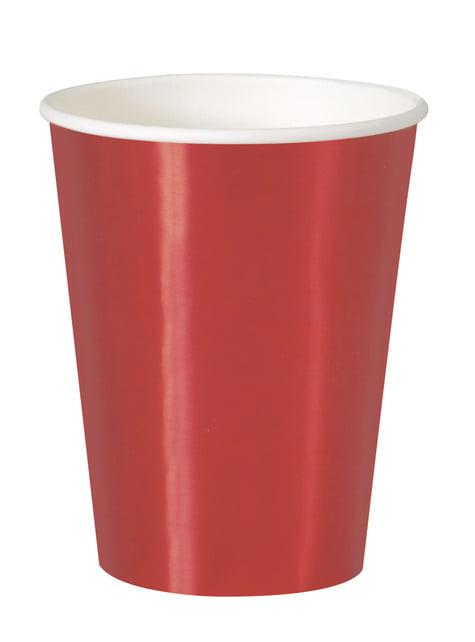 8 vasos rojos - Solid Colour Tableware