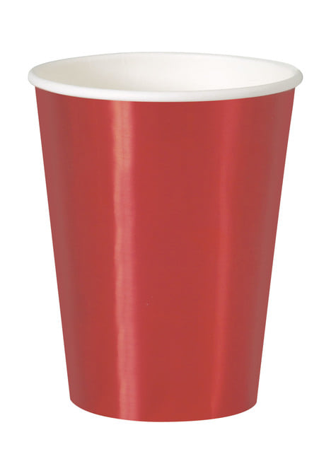 8 red cups - Solid Colour Tableware