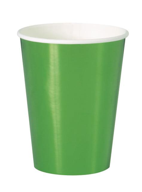 8 vasos verdes - Solid Colour Tableware