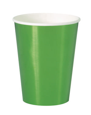 Sada 8 kelímků zelených - Solid Colour Tableware