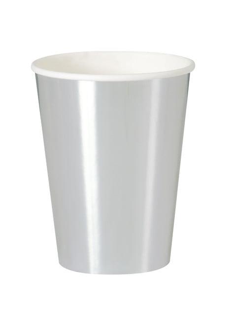 8 vasos plateados - Solid Colour Tableware